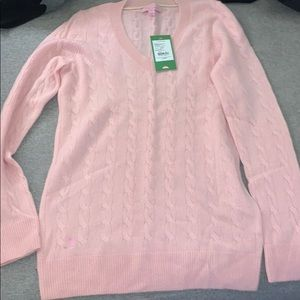 NWT Lilly Pulitzer cashmere light pink sweater
